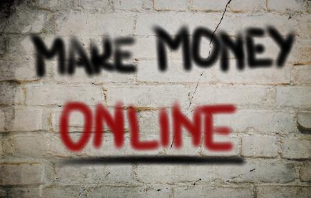 commision: Make Money Online Concept
