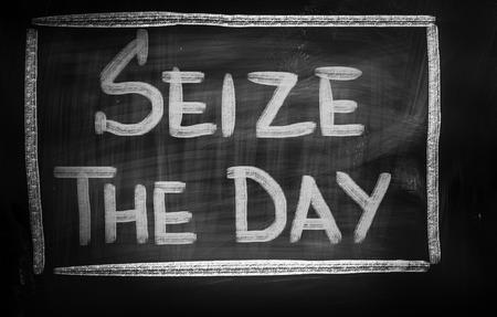 carpe diem: Seize The Day Concept Stock Photo
