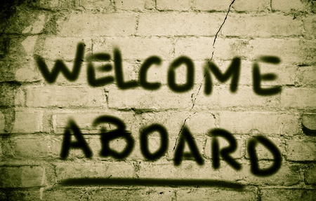 aboard: Welcome Aboard Concept Stock Photo