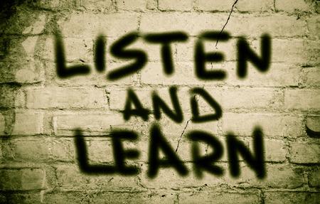 recap: Listen And Learn Concept