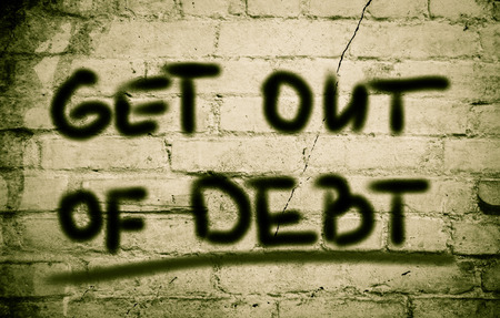 trade credit: Get Out Of Debt Concept