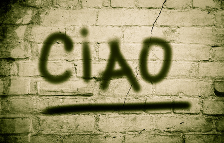 ciao: Ciao Concept Stock Photo
