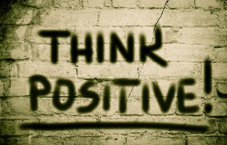 Think Positive Concept photo