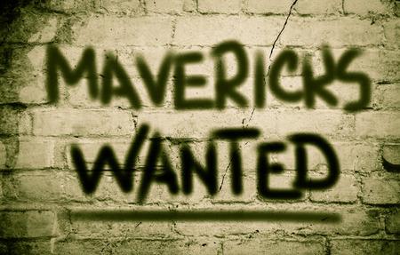 entrepreneurial: Mavericks Wanted Concept