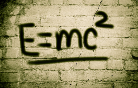 mc2: Albert Einsteins Physical Formula Concept Stock Photo