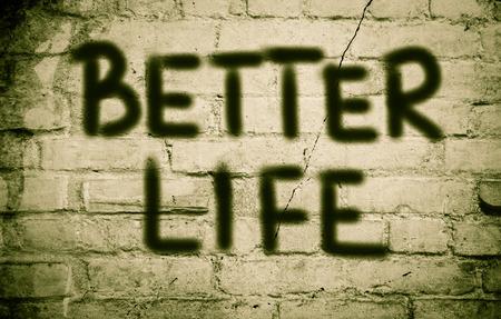 better: Better Life Concept Stock Photo