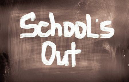 recap: Schools Out Concept Stock Photo