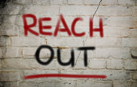 get help: Reach Out Concept