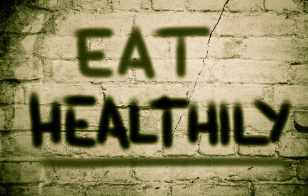 healthily: Eat Healthily Concept