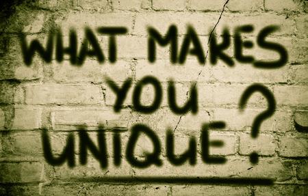 What Makes You Unique Concept photo