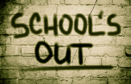 encapsulate: Schools Out Concept Stock Photo