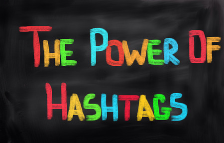 business trending: The Power Of Hashtags Concept Stock Photo