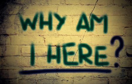 i am here:  Why Am I Here Concept Stock Photo