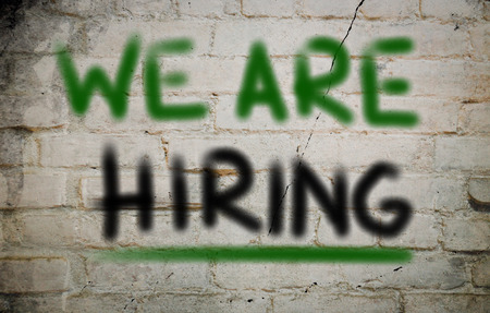 We Are Hiring Concept on wall photo