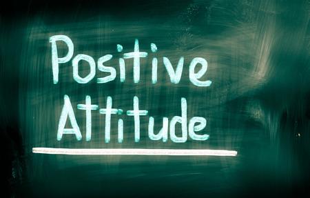 Positive Attitude Concept on greenboard