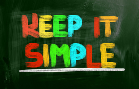 Keep It Simple Concept on greenboard photo