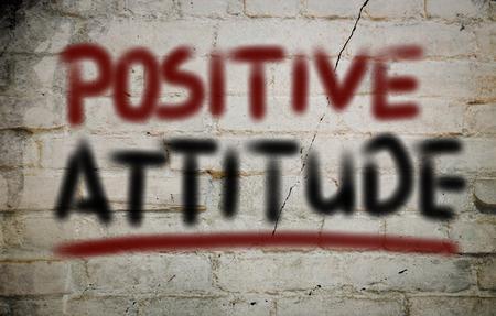 Positive Attitude Concept on wall Stock Photo