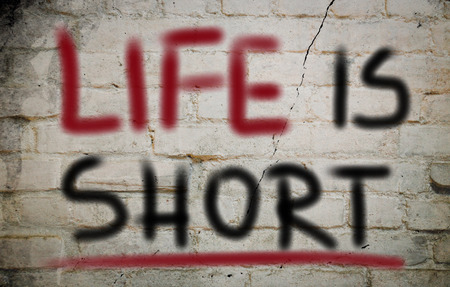 positiveness: Life Is Short Concept Stock Photo