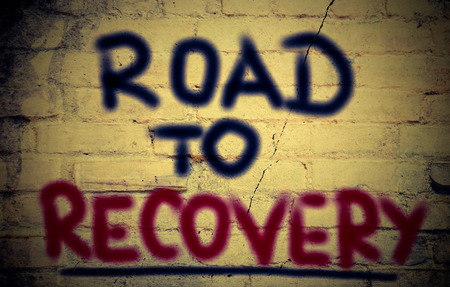 economic recovery: Road To Recovery Concept Stock Photo
