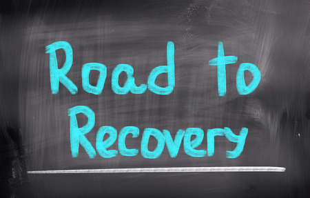road to recovery: Road To Recovery Concept Stock Photo