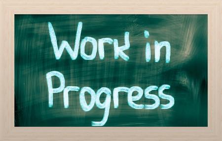 Work In Progress Concept photo