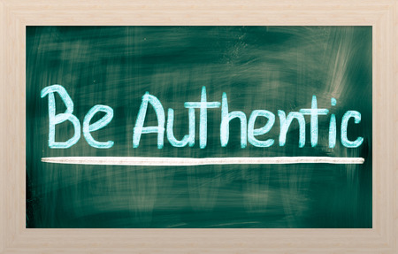 faked: Be Authentic Concept