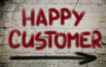 gl�cklicher kunde: Gl�ckliche Customer Concept