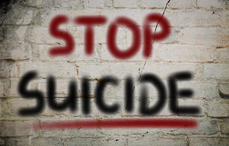 suicidal: Stop Suicide Concept