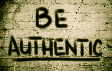 authenticity: Be Authentic Concept