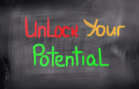 communication capability: Unlock Your Potential Concept Stock Photo