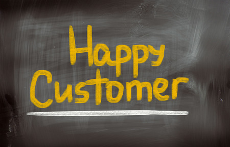 cause marketing: Happy Customer Concept Stock Photo