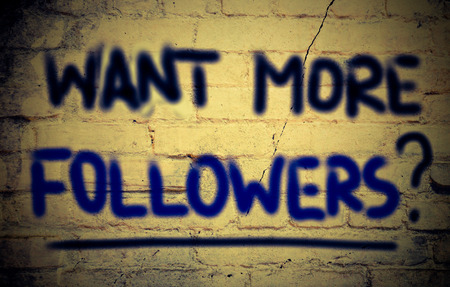 followers: Want More Followers Concept