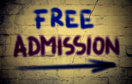 Free Admission Concept