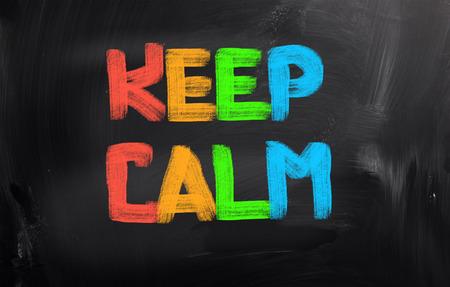 mindfulness: Keep Calm Concept