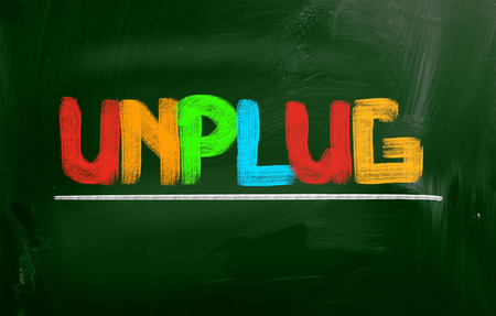 disconnecting: Unplug Concept