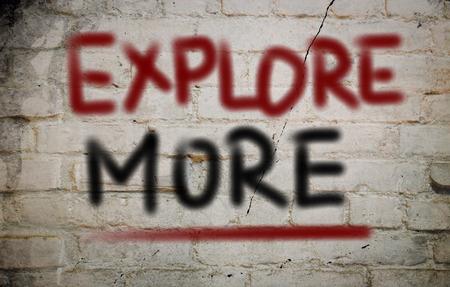 seeking an answer: Explore More Concept Stock Photo