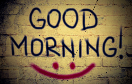 good morning: Good Morning Concept Stock Photo