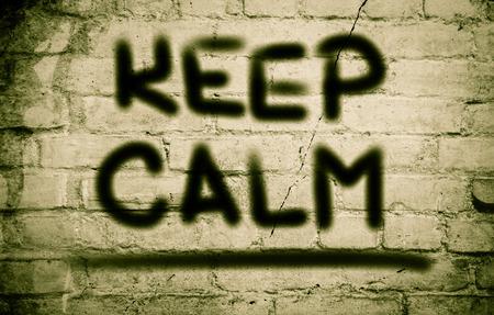 mindful: Keep Calm Concept