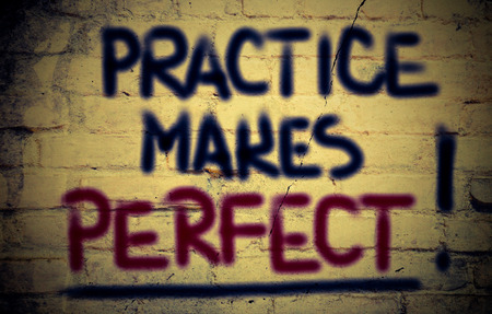 Practice Makes Perfect Concept photo
