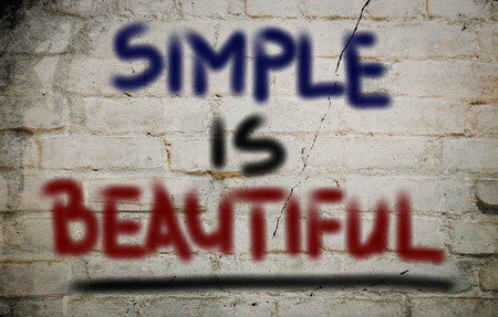 Simple Is Beautiful Concept photo
