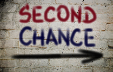 try: Second Chance Concept Stock Photo