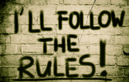 Ill Follow The Rules Concept photo