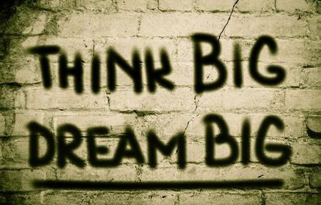 surpassing: Think Big Dream Big Concept Stock Photo