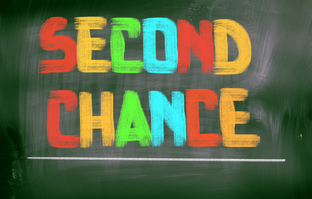 chance: Second Chance Concept Stock Photo