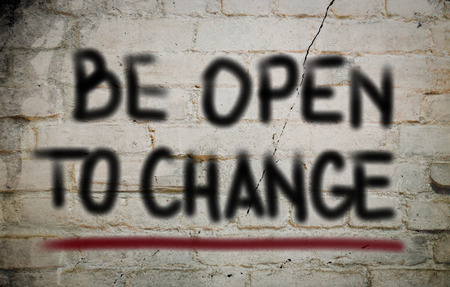 be the change: Be Open To Change Concept Stock Photo