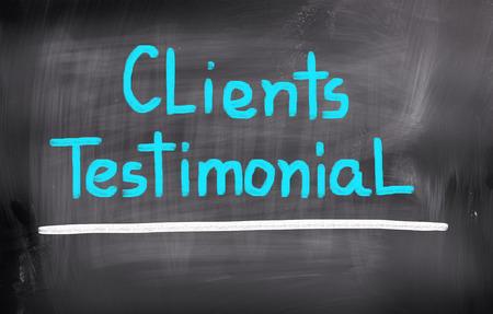 authenticate: Clients Testimonial Concept Stock Photo