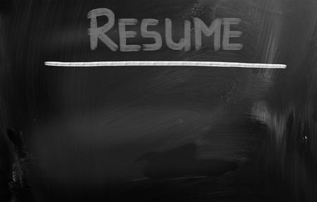 job qualifications: Resume Concept