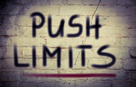 Push Limits Concept photo