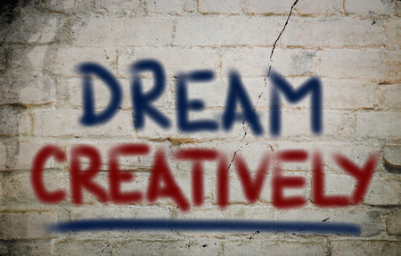 creatively: Dream Creatively Concept Stock Photo