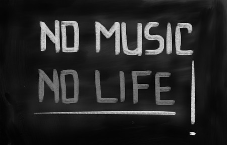 philosophy of music: No Music No Life Concept Stock Photo